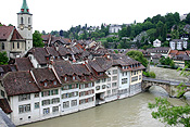 Europe, Switzerland, Swiss, Bern, Berne, Architecture, medieval, river, rivers, aare, river aare, house, houses, housing, roof, roofs, rooves.
