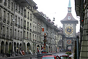 Europe, Switzerland, Swiss, Bern, Berne, Architecture, medieval, street, streets, clock, clocks.