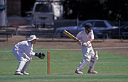 Sport pictures, Sports, swing, swings, Cricket, Cricket game, outdoors, Cricket games, Men, Man, Male, Males, people.